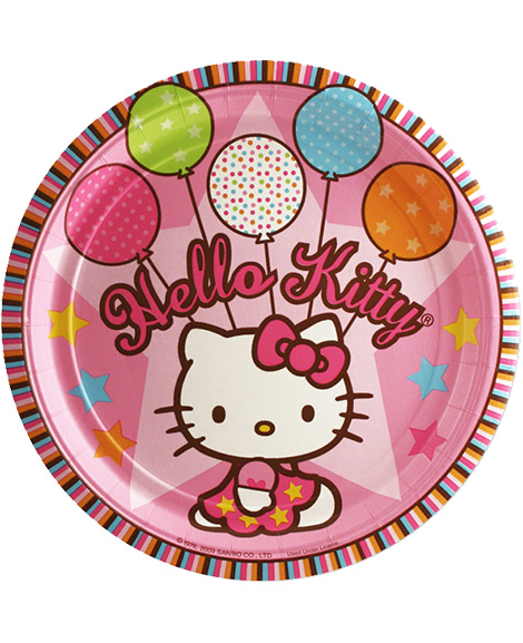 Hello Kitty Balloon Dreams Lunch Plates