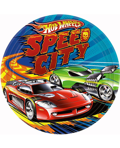 Hot Wheels Speed City Lunch Plates