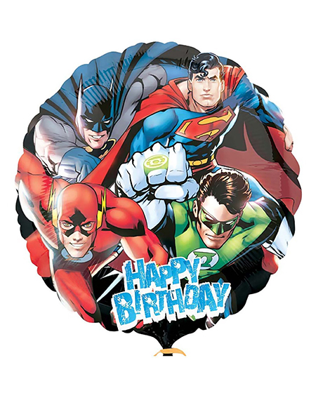 Justice League 18 Inch Round Happy Birthday Foil Mylar Balloon