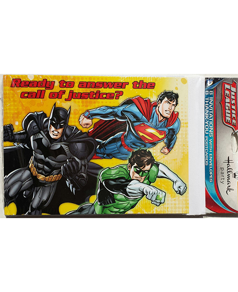 Justice League Rescue Party Invitations and Thank You Combo Package