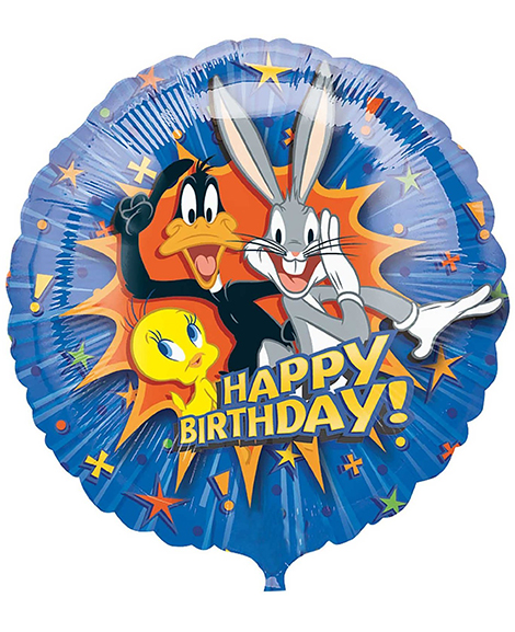 Looney Tunes Happy Birthday 18 Inch Round Foil Mylar Balloon