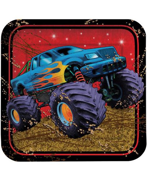 Mudslinger Monster Truck Lunch Plates
