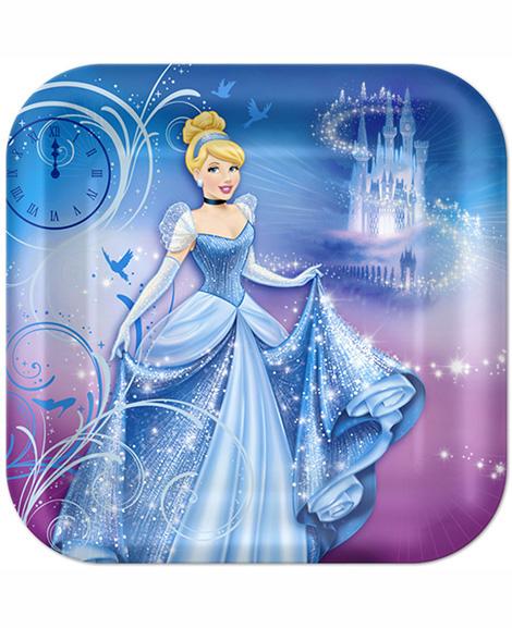 Cinderella Sparkle Amscan Lunch Plates