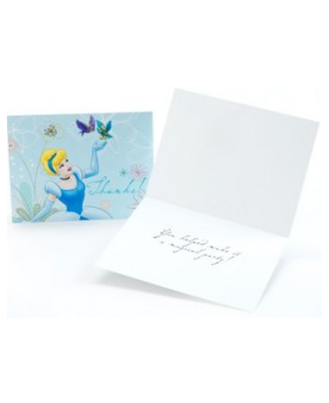 Cinderella Dreamland Party Thank You Notes