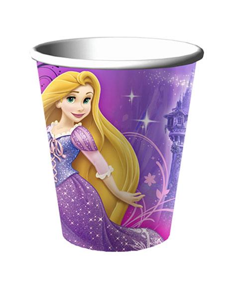 Rapunzel Tangled Sparkle 9 oz Paper Cups