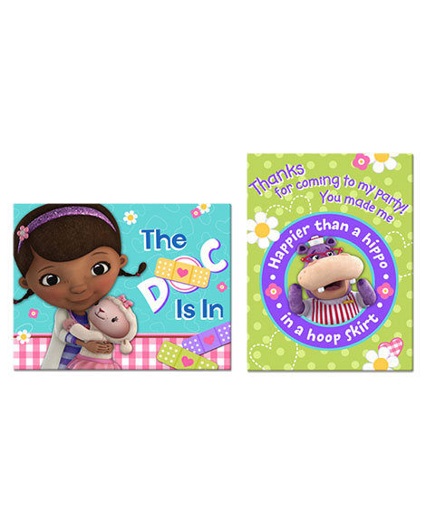 Doc McStuffins Party Invitations and Thank You Combo