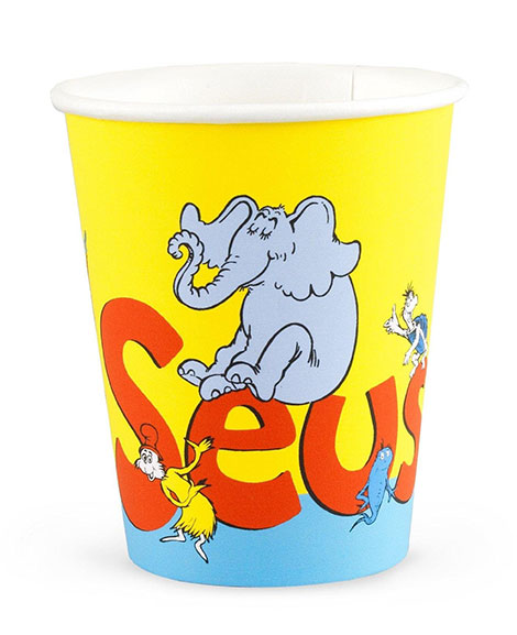 Dr Seuss Classic Book Characters Paper Cups