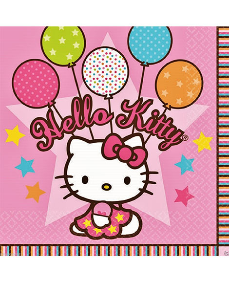 Hello Kitty Balloon Dreams Lunch Napkins