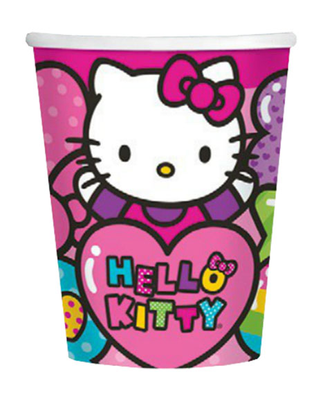 Hello Kitty Rainbow 9 oz Paper CupsHello Kitty Rainbow 9 oz Paper Cups