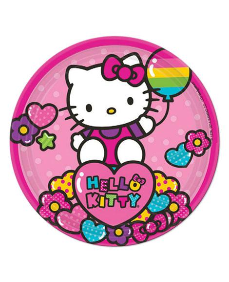 Hello Kitty Rainbow Dessert Plates