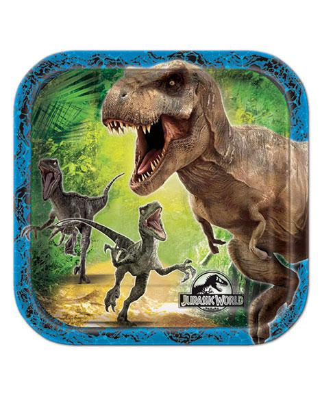 Jurassic World Dessert Plates
