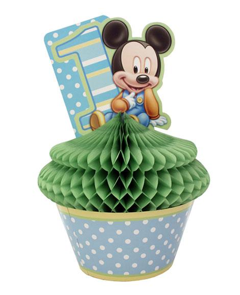 Mickey 1st Birthday Cupcake Centerpiece