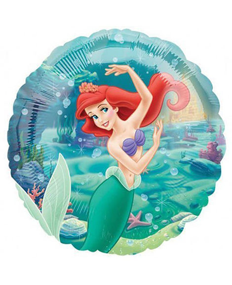 Little Mermaid Under The Sea 18 Inch Round Foil Mylar Balloon