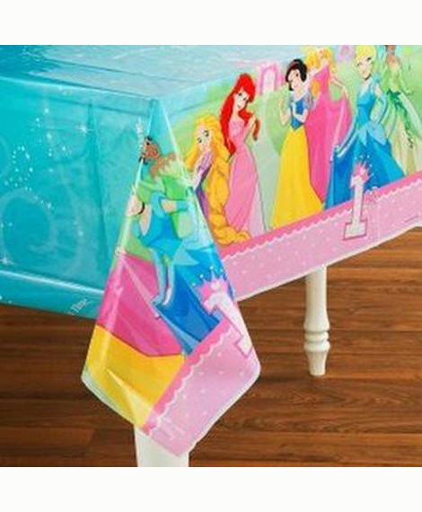 Disney Princess 1st Birthday Plastic Table Cover