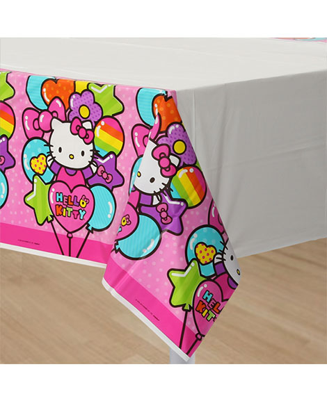 Hello Kitty Rainbow Plastic Table Cover