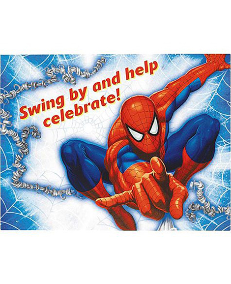 amazing spiderman party invitations party quackers