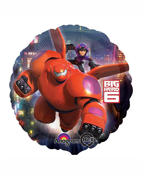 Big Hero 6 Round Foil Mylar Balloon