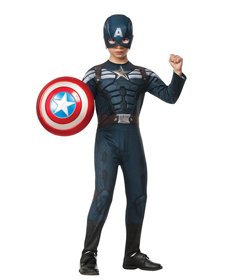 Captain America Winter Soldier Stealth Deluxe Child Costume Med 8-10