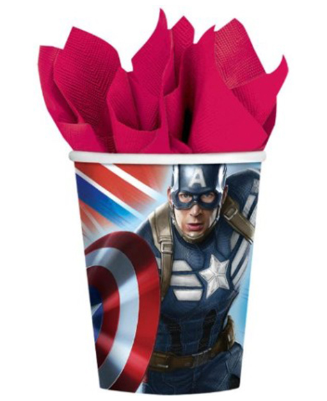 Captain America Winter Soldier 9 oz Paper Cups