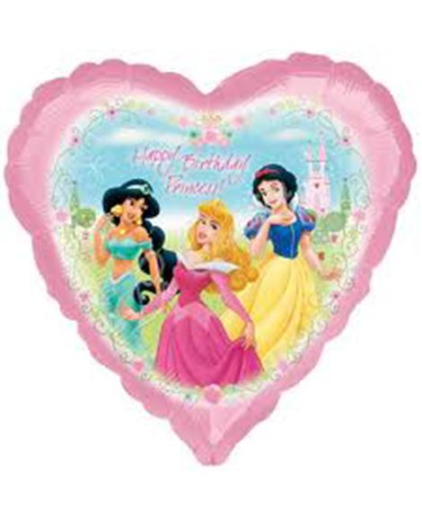 Disney Fairytale Friends 18 Inch Heart Shaped Foil Mylar Balloon