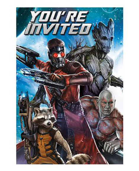Guardians of The Galaxy Save The Date Party Invitations