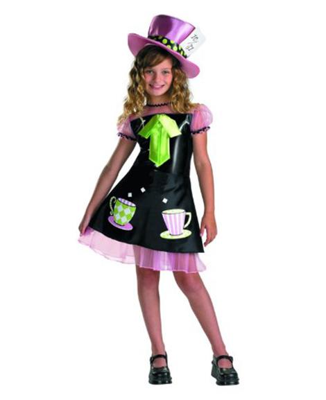 Mad Hatter Girls Costume Size Med 7-8