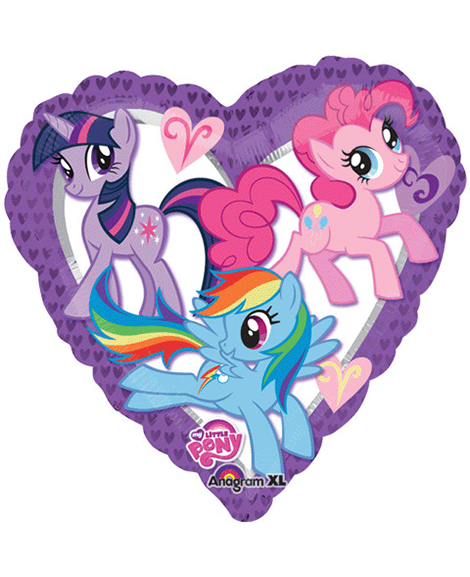 My Little Pony Friendship 18 Inch Heart Shaped Foil Mylar Balloon