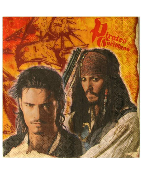 Pirates of the Caribbean 3 Lunch Napkins