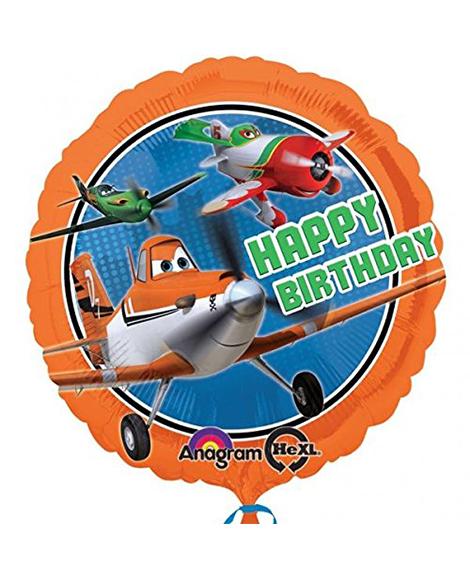 Planes 18 Inch Round Foil Mylar Balloon