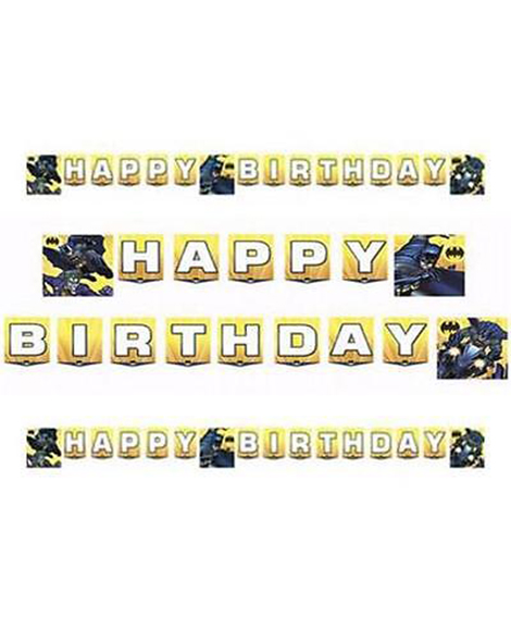 Batman Dark Knight Jointed Birthday Banner