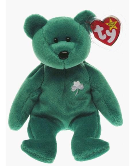 Retired Ty Beanie Baby Erin The Irish St Patricks Teddy Bear  37dfea05875