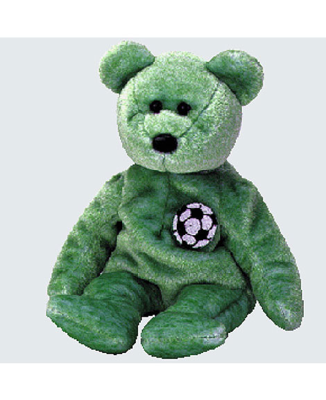 Retired Ty Beanie Baby Kicks The Soccer Bear  2c465a5e700