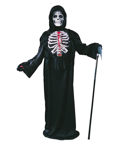 Bleeding Skeleton Bloody Bones Child Costume by Fun World Size Medium 8-10