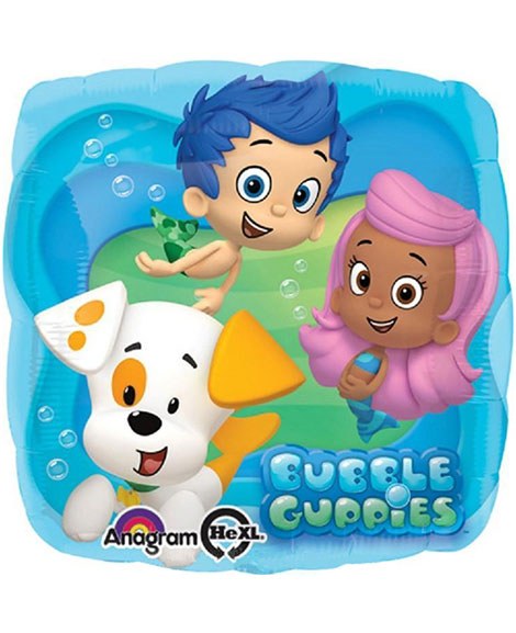 Bubble Guppies 18 Inch Square Foil Mylar Balloon