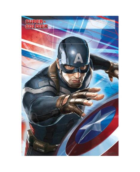 Captain America Winter Soldier Party Favor Treat Bags