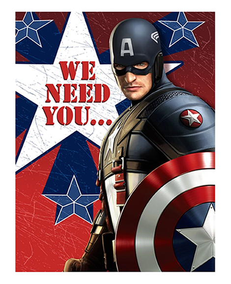 Captain America The First Avenger Party Invitations