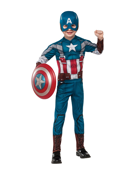 Captain America The First Avenger Retro Deluxe Costume Small 4-6