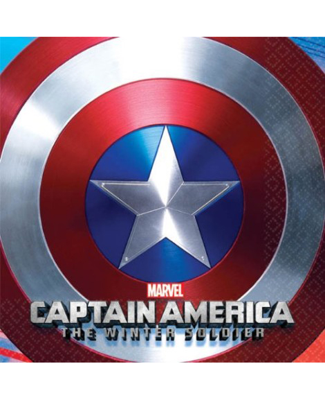 Captain America Winter Soldier Dessert Napkins