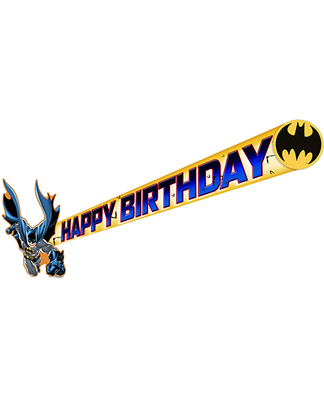 DC Batman Happy Birthday Jointed Banner