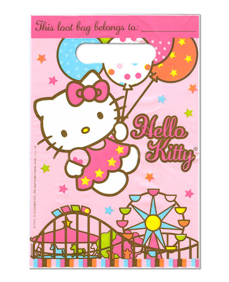 Hello Kitty Balloon Dreams Party Favor Treat Bags
