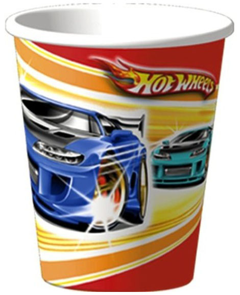 Hot Wheels Fast Action 9 oz Paper Cups