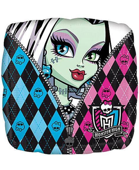 Monster High 18 Inch Square Foil Mylar Balloon