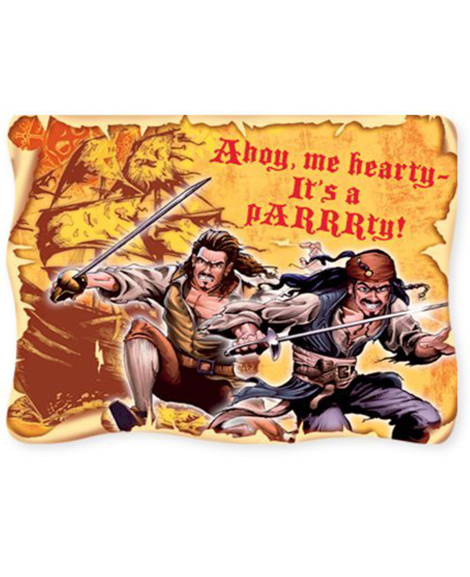 Pirates of the Caribbean 3 Party Invitations