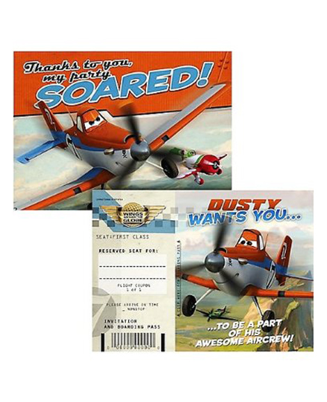 Planes Party Invitation Thank You Combo