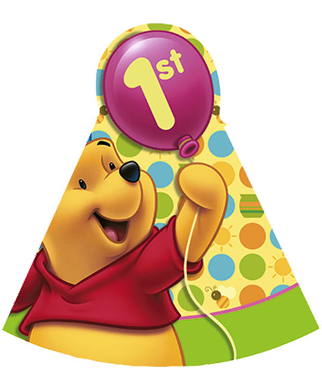 Pooh Birthday Party Favor Cone Hats Quackers