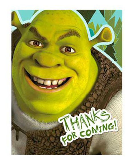 Shrek Forever After Party Thank You Cards