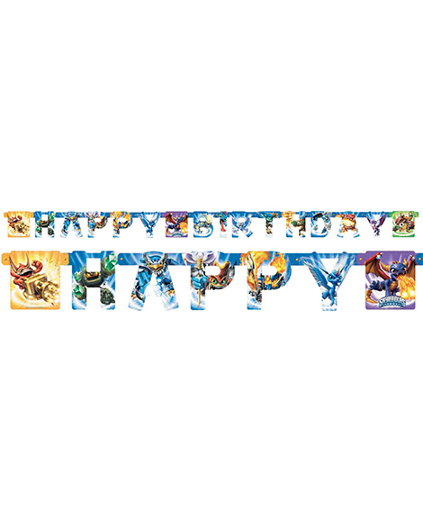 Skylanders Happy Birthday Jointed Banner