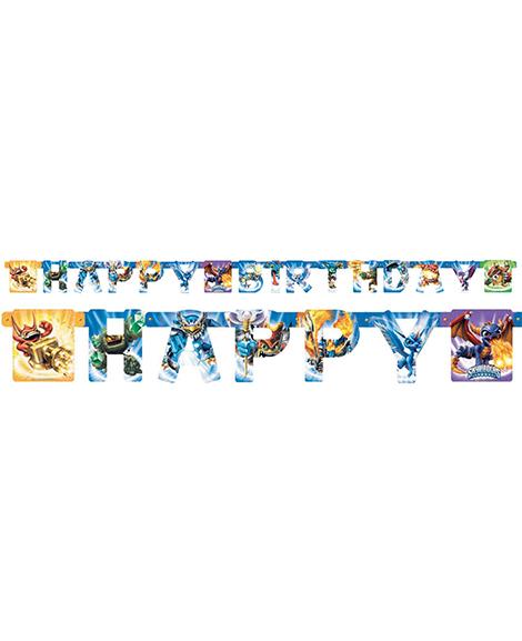 Skylanders Happy Birthday Jointed Banner