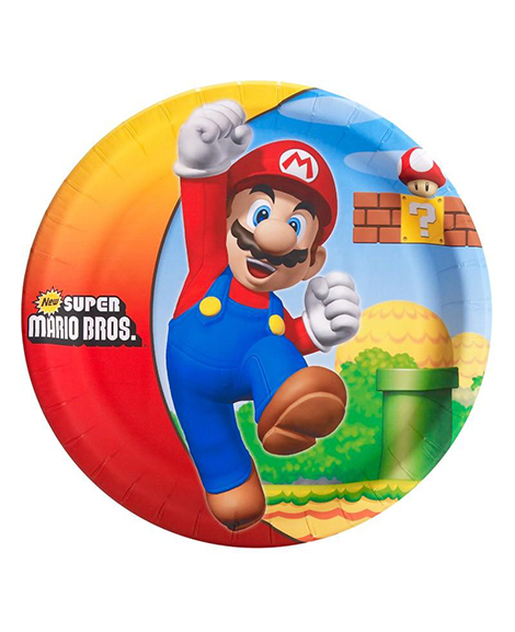 Super Mario Brothers Lunch Plates