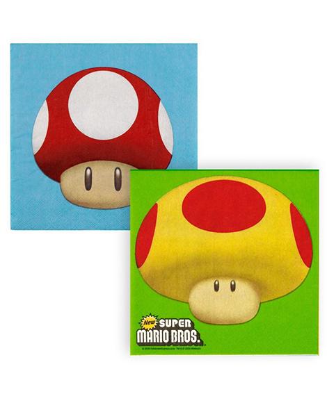 Super Mario Bros Lunch Napkins 16 Ct